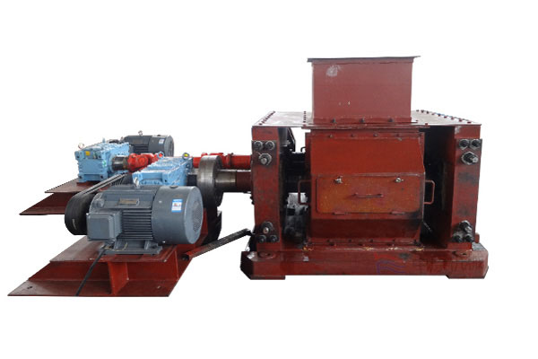 Double plain roller crusher
