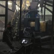 Work site of Mongolia briquetting machine